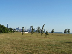 Inaugural Rock 'n' Roll Chicago Half Marathon - view of the city in the distance